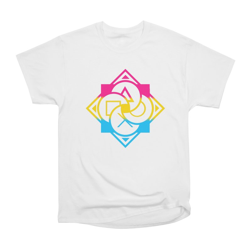 Logo - Pan Pride Women's Heavyweight Unisex T-Shirt by Queer Women Game Loot