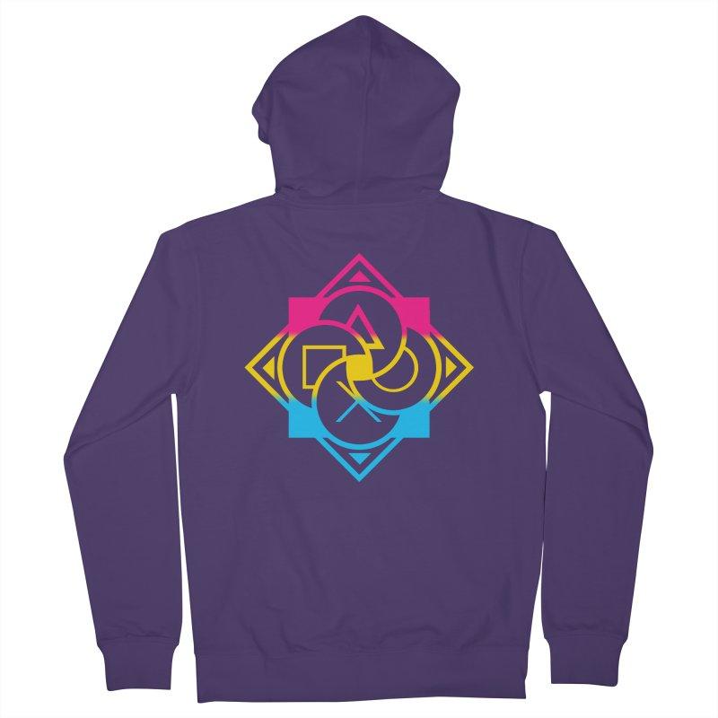 Logo - Pan Pride Women's French Terry Zip-Up Hoody by Queer Women Game Loot