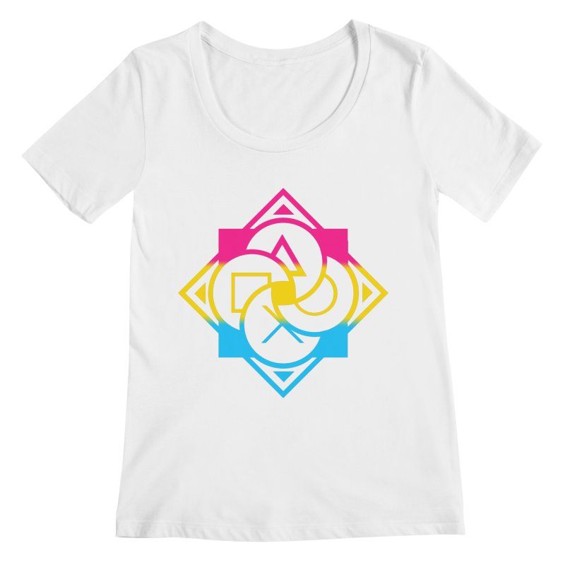 Logo - Pan Pride Women's Regular Scoop Neck by Queer Women Game Loot