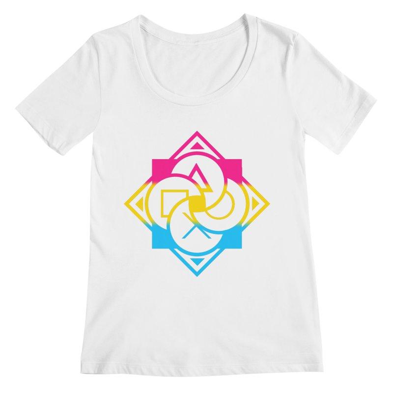 Logo - Pan Pride Women's Regular Scoop Neck by Queer Women Game Loot