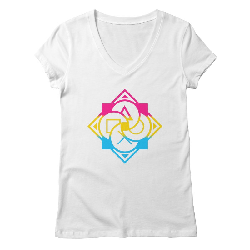 Logo - Pan Pride Women's Regular V-Neck by Queer Women Game Loot