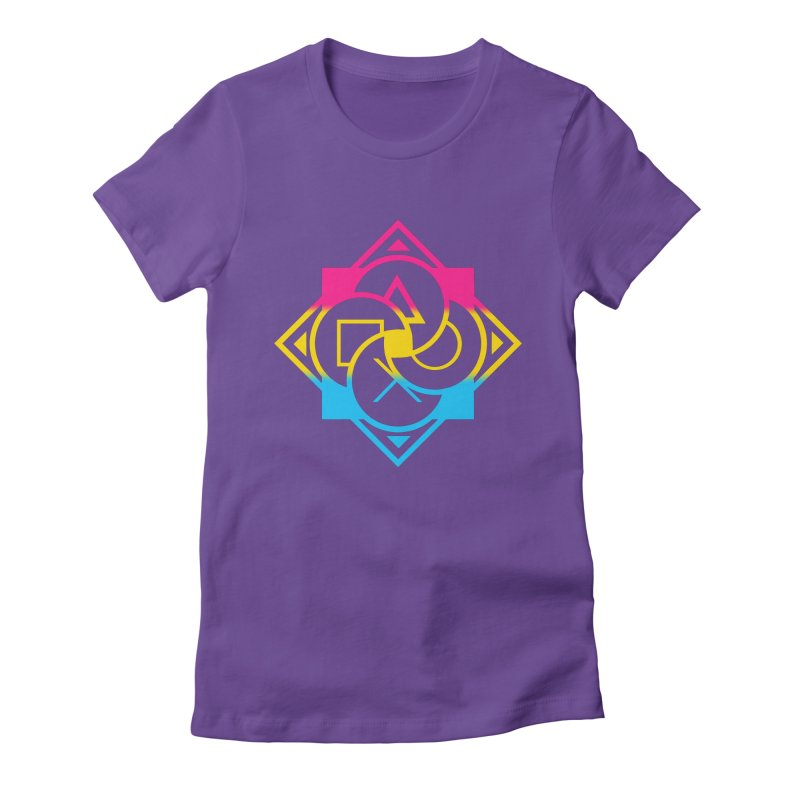 Logo - Pan Pride Women's Fitted T-Shirt by Queer Women Game Loot