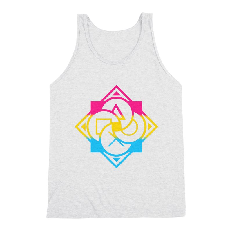 Logo - Pan Pride Men's Triblend Tank by Queer Women Game Loot
