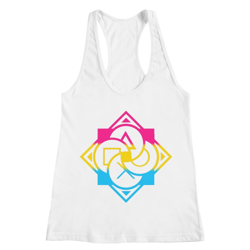 Logo - Pan Pride Women's Racerback Tank by Queer Women Game Loot