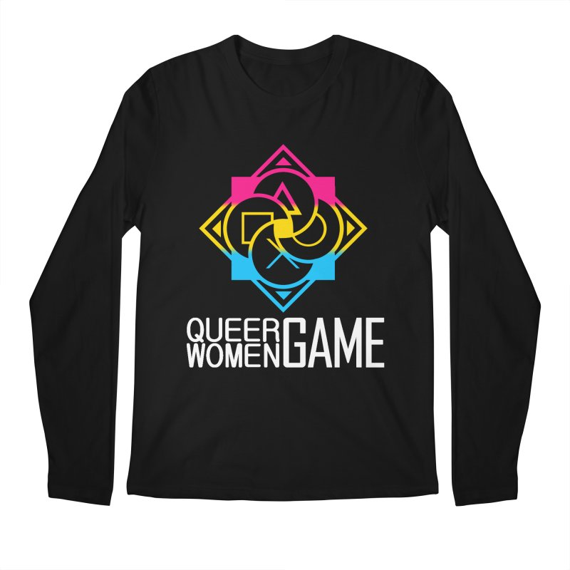 Logo & Text - Pan Pride Men's Longsleeve T-Shirt by Queer Women Game Loot