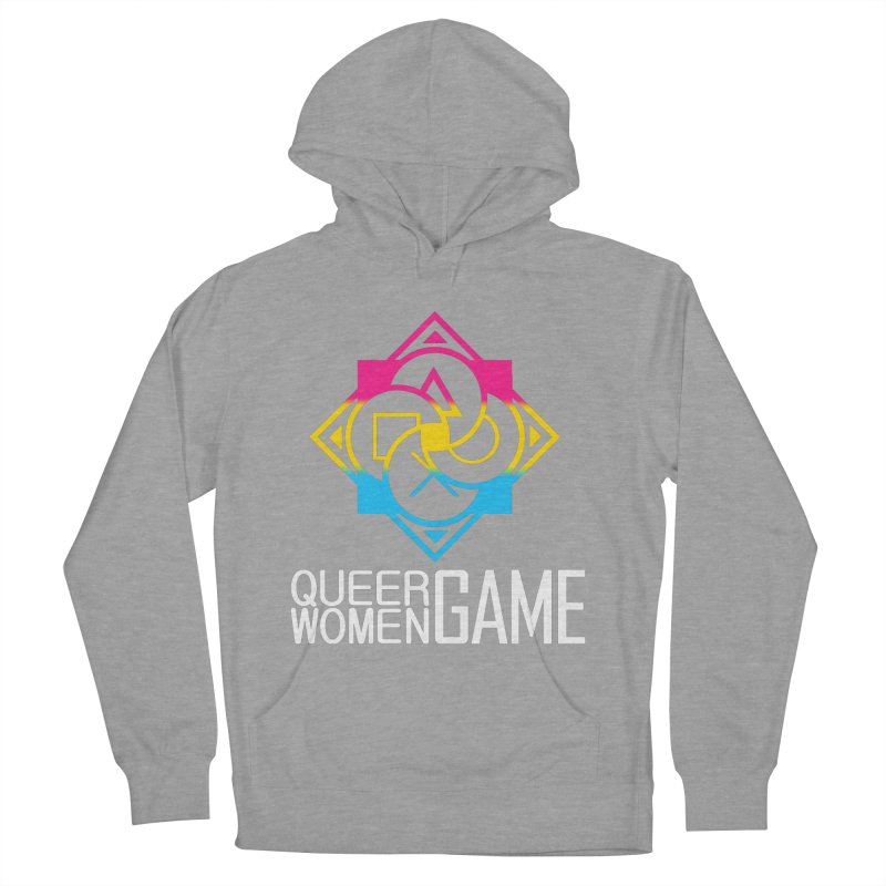 Logo & Text - Pan Pride Women's French Terry Pullover Hoody by Queer Women Game Loot