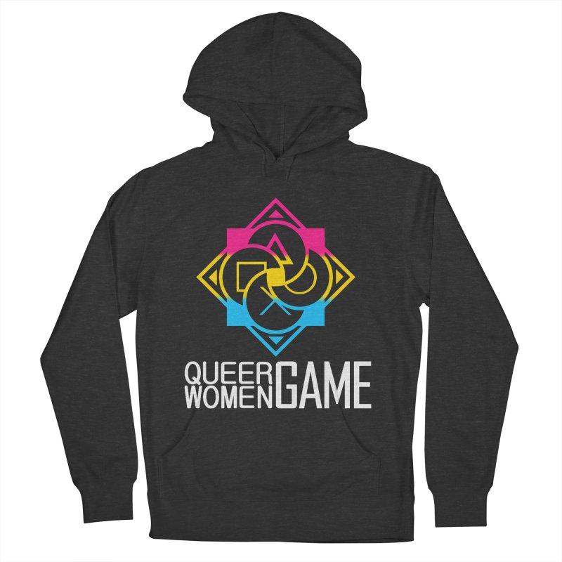 Logo & Text - Pan Pride Men's French Terry Pullover Hoody by Queer Women Game Loot