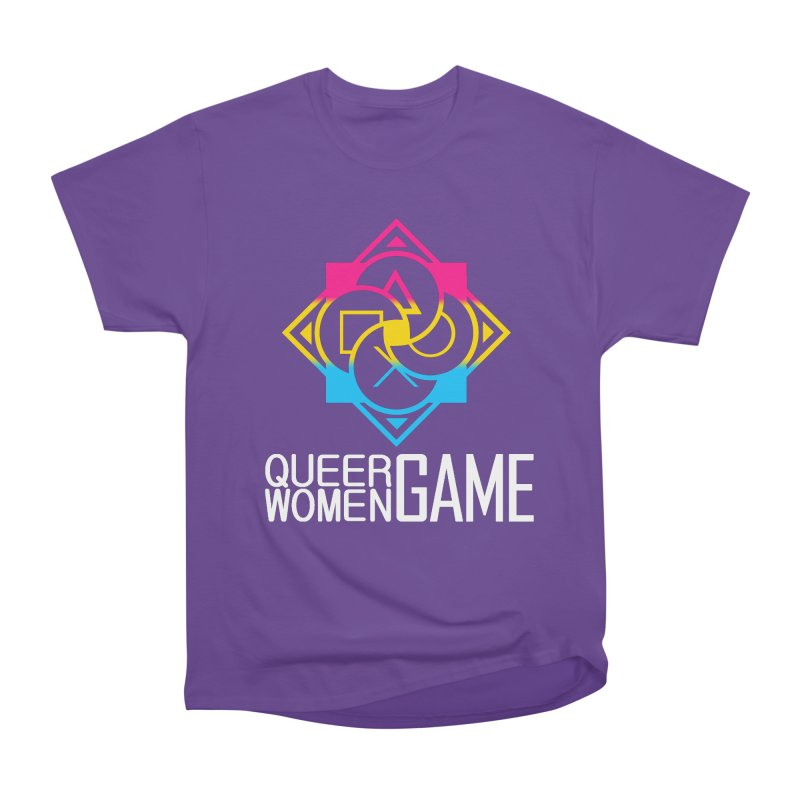 Logo & Text - Pan Pride Women's Heavyweight Unisex T-Shirt by Queer Women Game Loot