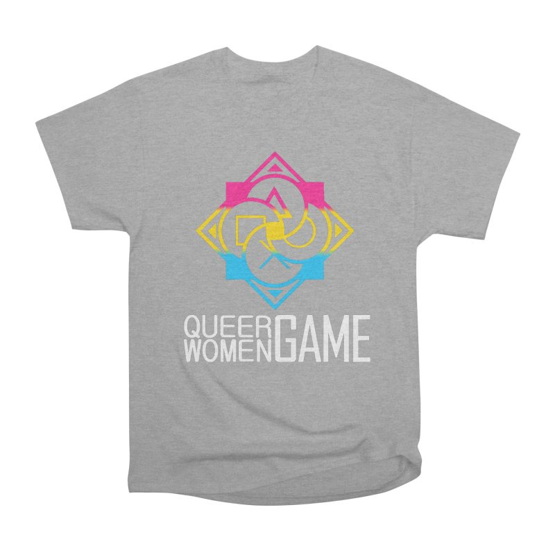 Logo & Text - Pan Pride Men's Heavyweight T-Shirt by Queer Women Game Loot