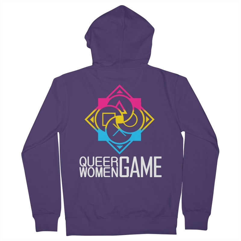 Logo & Text - Pan Pride Women's French Terry Zip-Up Hoody by Queer Women Game Loot