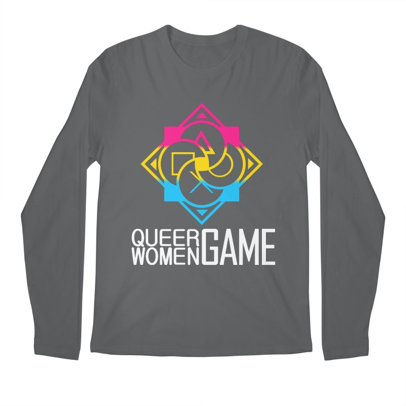 Logo & Text - Pan Pride Men's Regular Longsleeve T-Shirt by Queer Women Game Loot