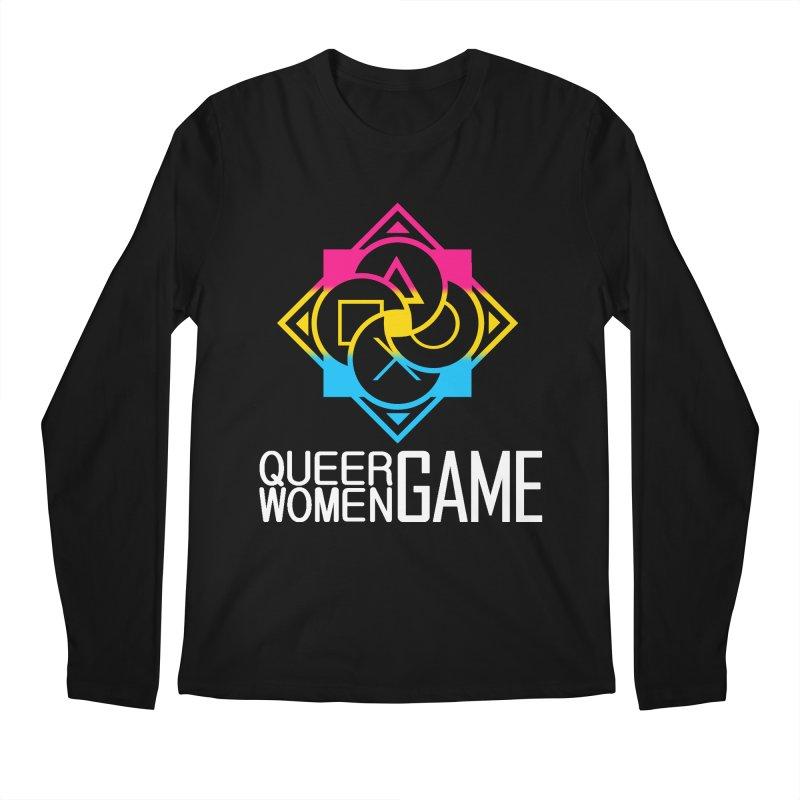 Logo & Text - Pan Pride Men's Regular Longsleeve T-Shirt by Queer Women Game Loot