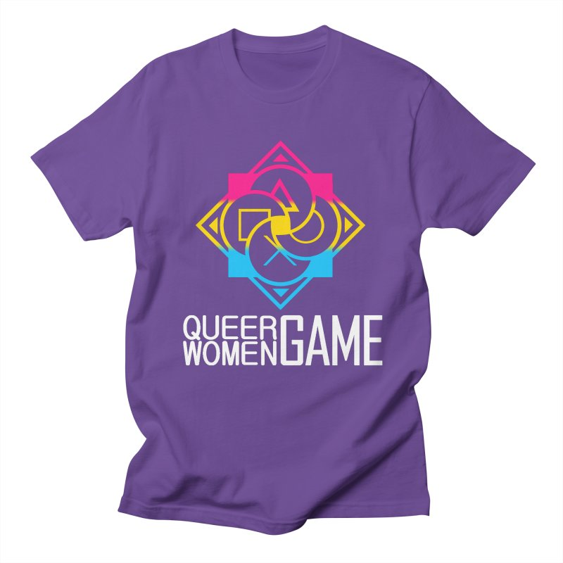 Logo & Text - Pan Pride Women's Regular Unisex T-Shirt by Queer Women Game Loot