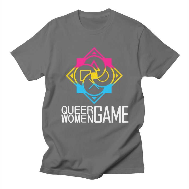 Logo & Text - Pan Pride Men's T-Shirt by Queer Women Game Loot