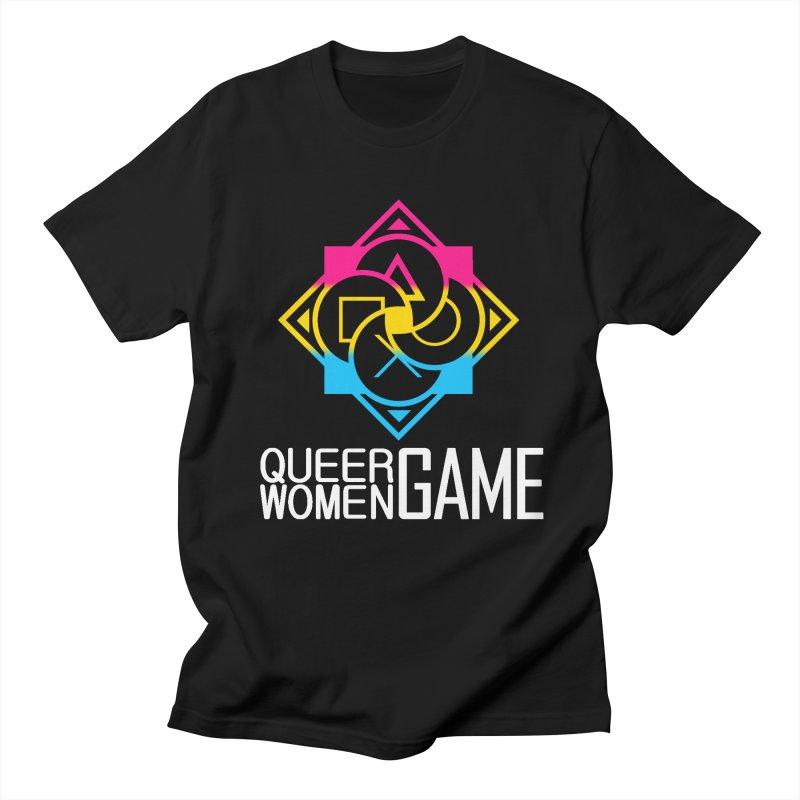 Logo & Text - Pan Pride Men's Regular T-Shirt by Queer Women Game Loot
