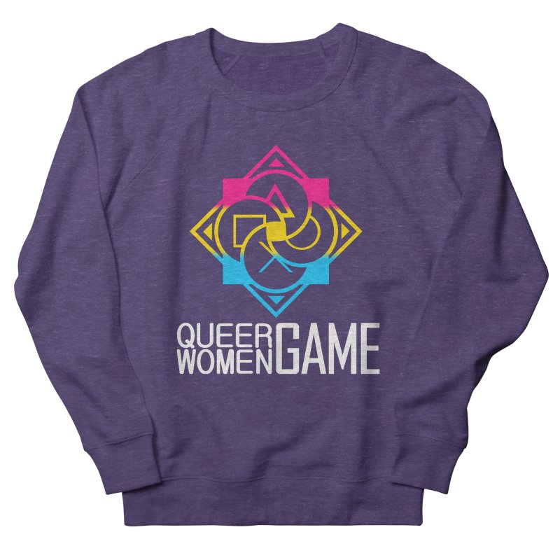 Logo & Text - Pan Pride Women's French Terry Sweatshirt by Queer Women Game Loot