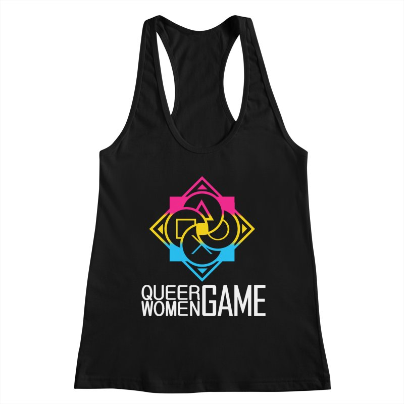 Logo & Text - Pan Pride Women's Tank by Queer Women Game Loot
