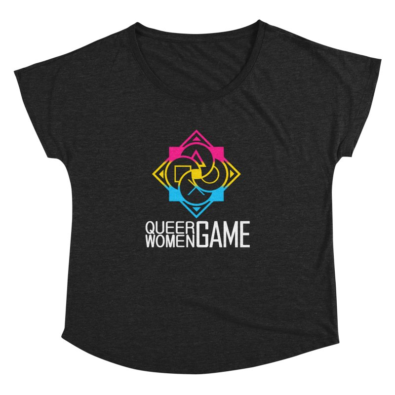 Logo & Text - Pan Pride Women's Dolman Scoop Neck by Queer Women Game Loot