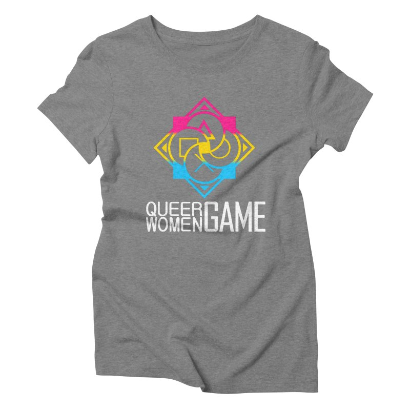 Logo & Text - Pan Pride Women's Triblend T-Shirt by Queer Women Game Loot