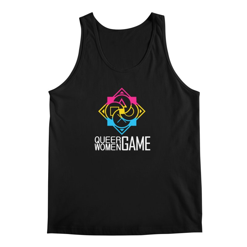 Logo & Text - Pan Pride Men's Tank by Queer Women Game Loot