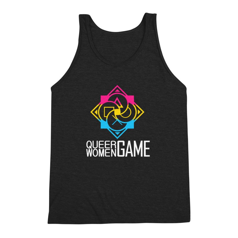 Logo & Text - Pan Pride Men's Triblend Tank by Queer Women Game Loot