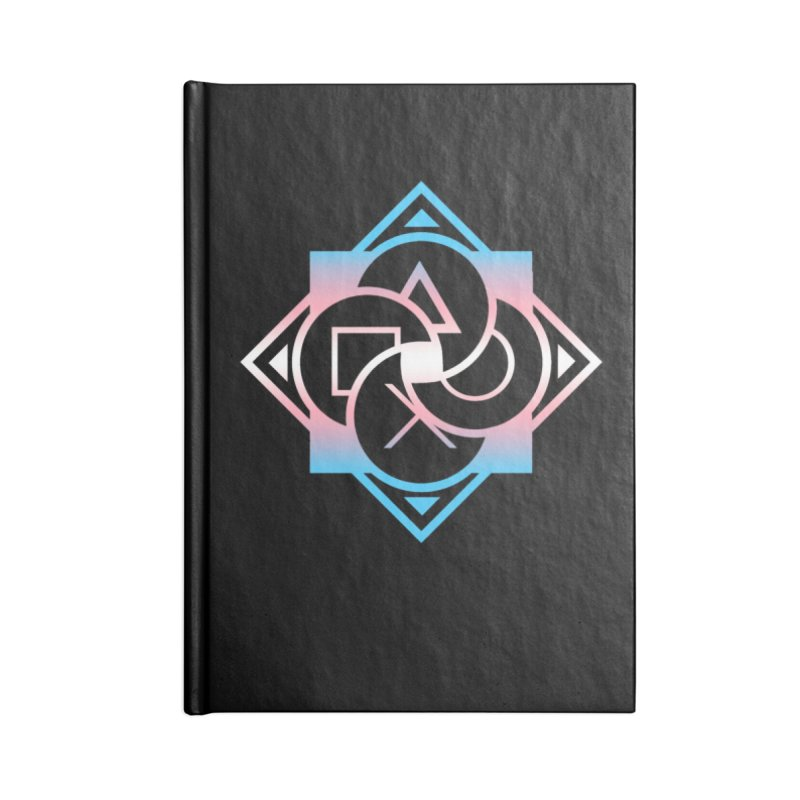 Logo - Trans Pride Accessories Blank Journal Notebook by Queer Women Game Loot
