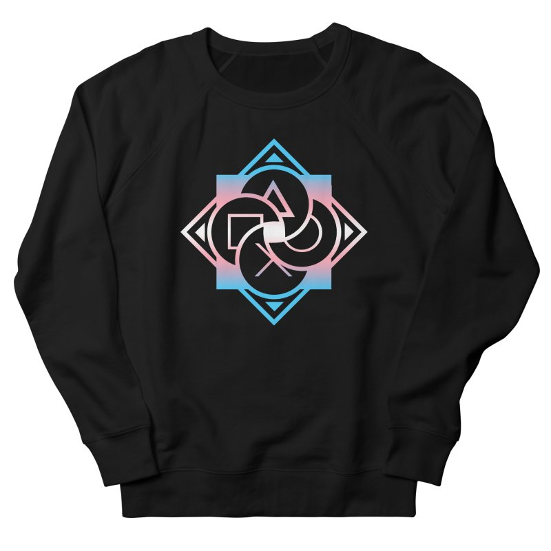 Logo - Trans Pride Men's French Terry Sweatshirt by Queer Women Game Loot