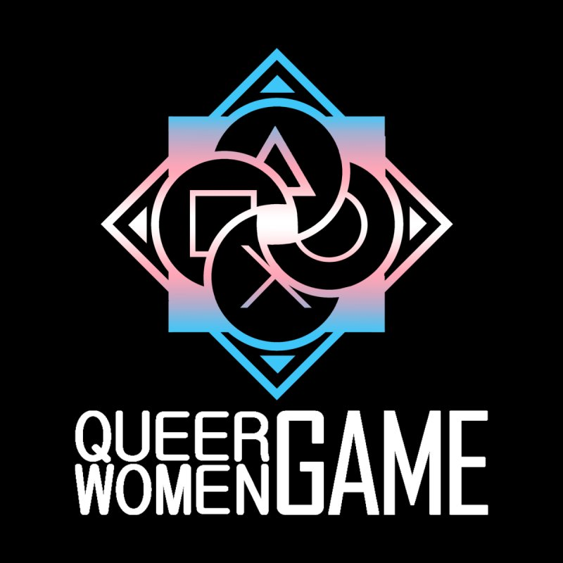 Logo & Text - Trans Pride Men's T-Shirt by Queer Women Game Loot