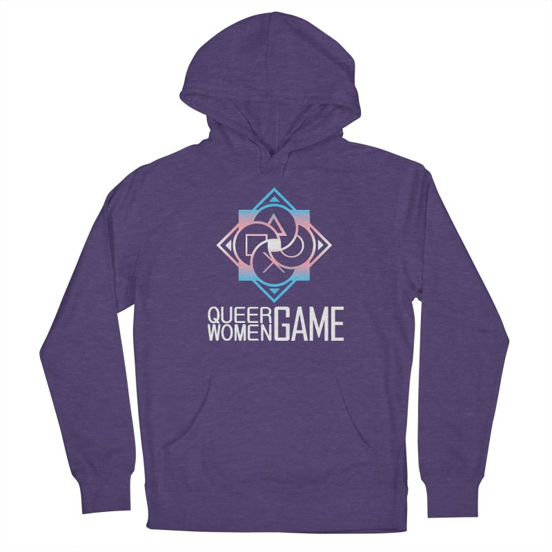 Logo & Text - Trans Pride Women's French Terry Pullover Hoody by Queer Women Game Loot