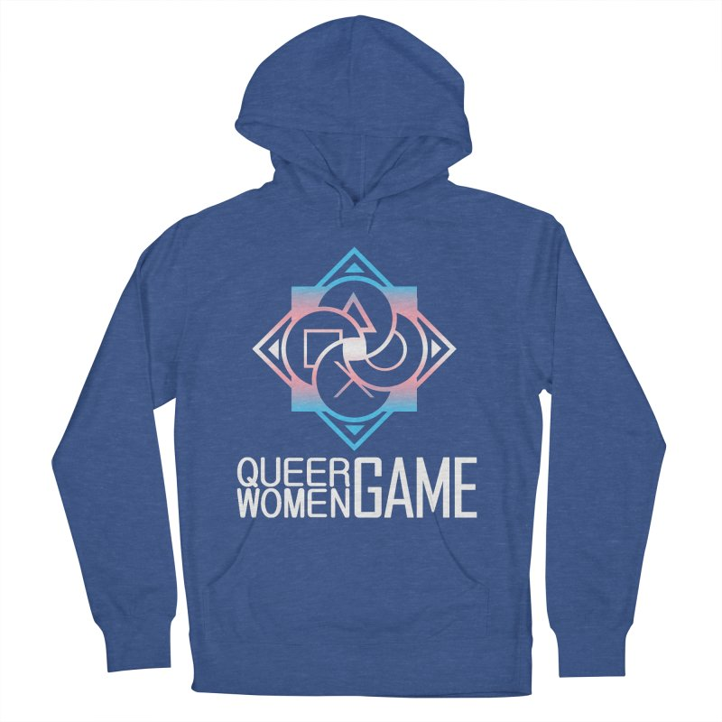Logo & Text - Trans Pride Men's French Terry Pullover Hoody by Queer Women Game Loot
