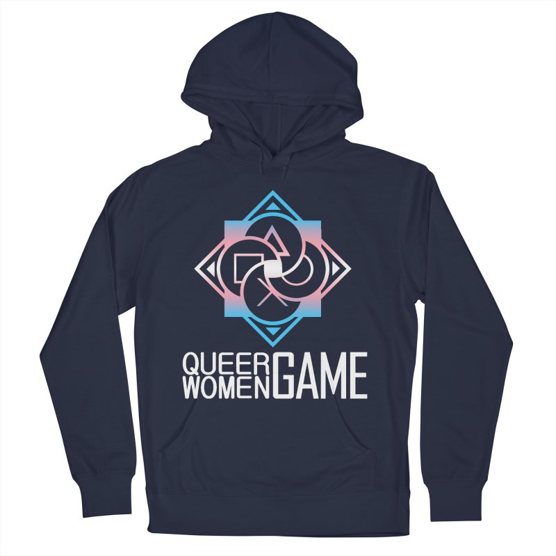 Logo & Text - Trans Pride Men's Pullover Hoody by Queer Women Game Loot