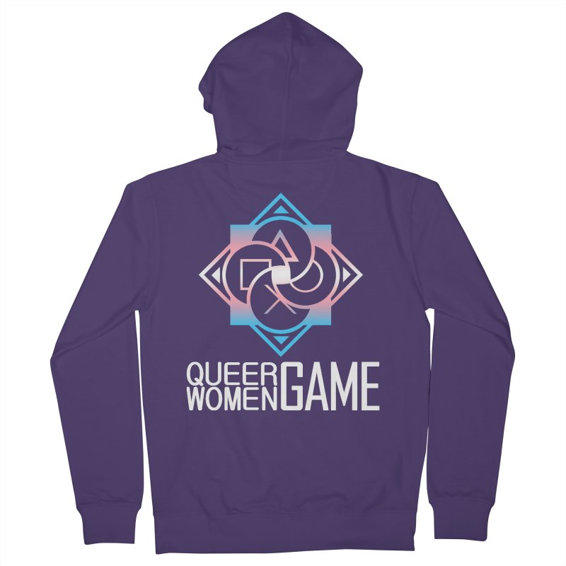 Logo & Text - Trans Pride Women's Zip-Up Hoody by Queer Women Game Loot