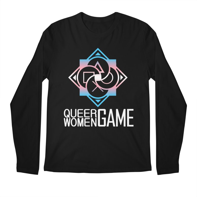 Logo & Text - Trans Pride Men's Regular Longsleeve T-Shirt by Queer Women Game Loot