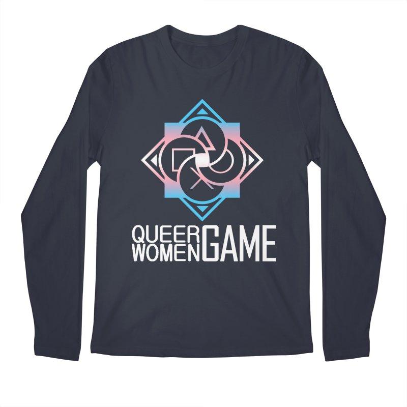 Logo & Text - Trans Pride Men's Regular Longsleeve T-Shirt by Queer Women Game Loot
