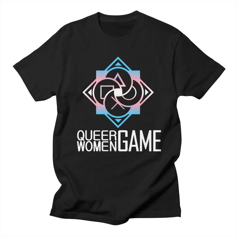 Logo & Text - Trans Pride Men's Regular T-Shirt by Queer Women Game Loot