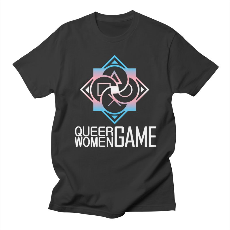 Logo & Text - Trans Pride Women's Regular Unisex T-Shirt by Queer Women Game Loot