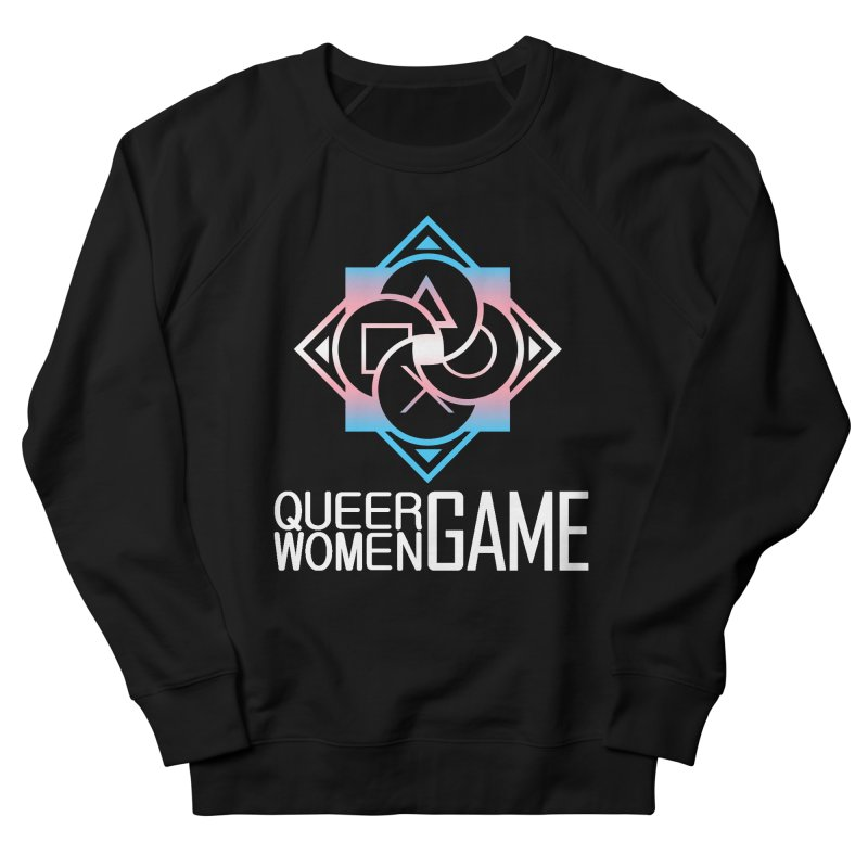 Logo & Text - Trans Pride Men's French Terry Sweatshirt by Queer Women Game Loot