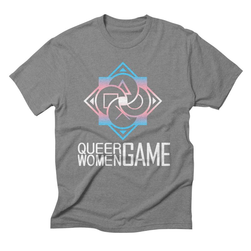 Logo & Text - Trans Pride Men's Triblend T-Shirt by Queer Women Game Loot