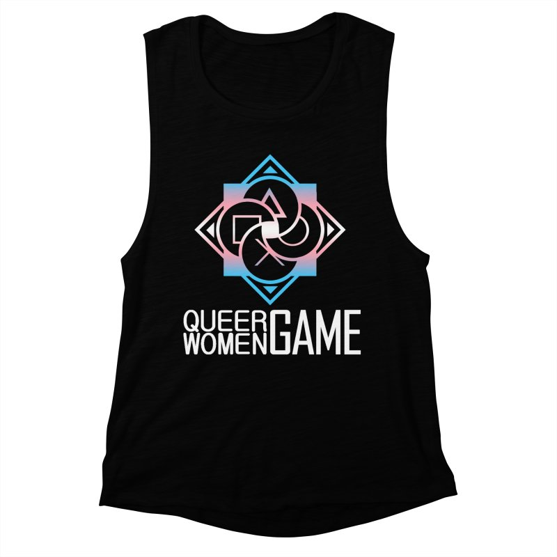 Logo & Text - Trans Pride Women's Muscle Tank by Queer Women Game Loot