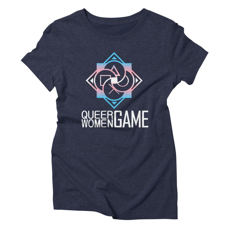 Logo & Text - Trans Pride Women's T-Shirt by Queer Women Game Loot