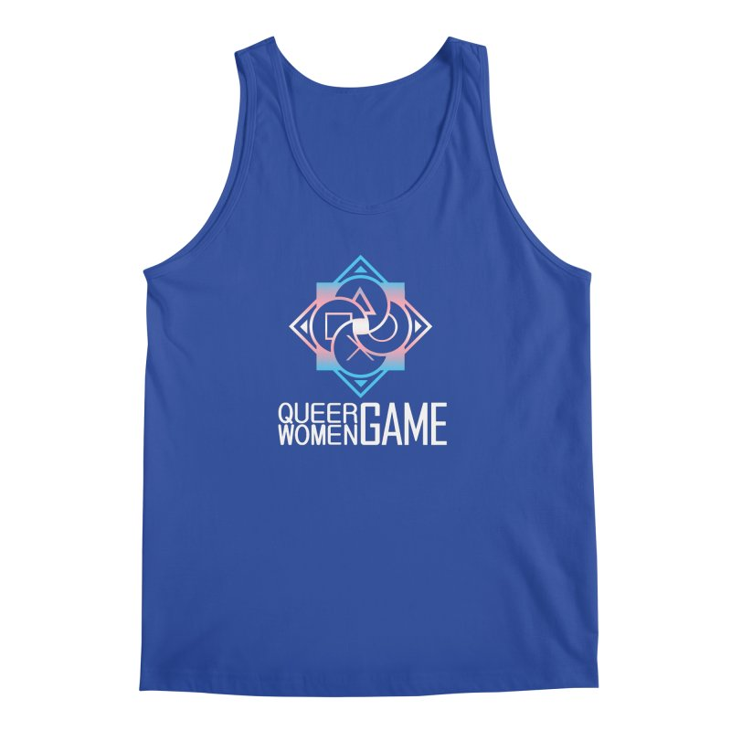 Logo & Text - Trans Pride Men's Tank by Queer Women Game Loot