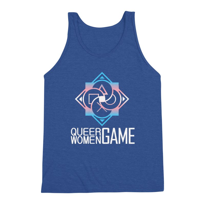 Logo & Text - Trans Pride Men's Triblend Tank by Queer Women Game Loot