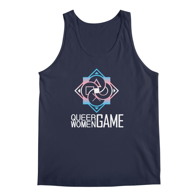 Logo & Text - Trans Pride Men's Regular Tank by Queer Women Game Loot