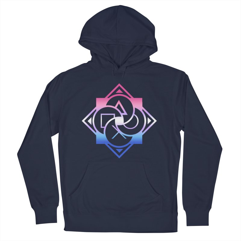 Logo - Bigender Pride Men's Pullover Hoody by Queer Women Game Loot
