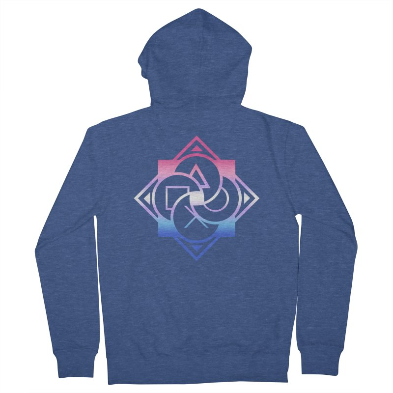 Logo - Bigender Pride Men's Zip-Up Hoody by Queer Women Game Loot