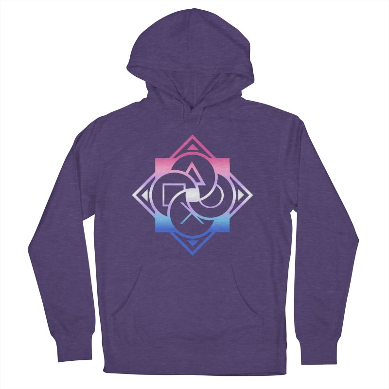 Logo - Bigender Pride Women's French Terry Pullover Hoody by Queer Women Game Loot