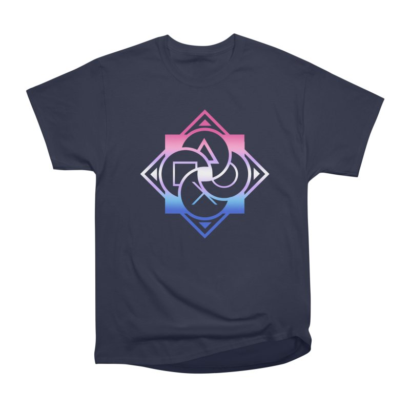 Logo - Bigender Pride Men's Heavyweight T-Shirt by Queer Women Game Loot