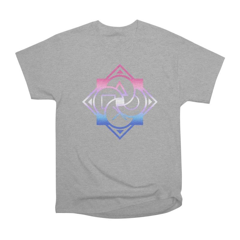 Logo - Bigender Pride Men's Heavyweight T-Shirt by Queer Women Game Loot