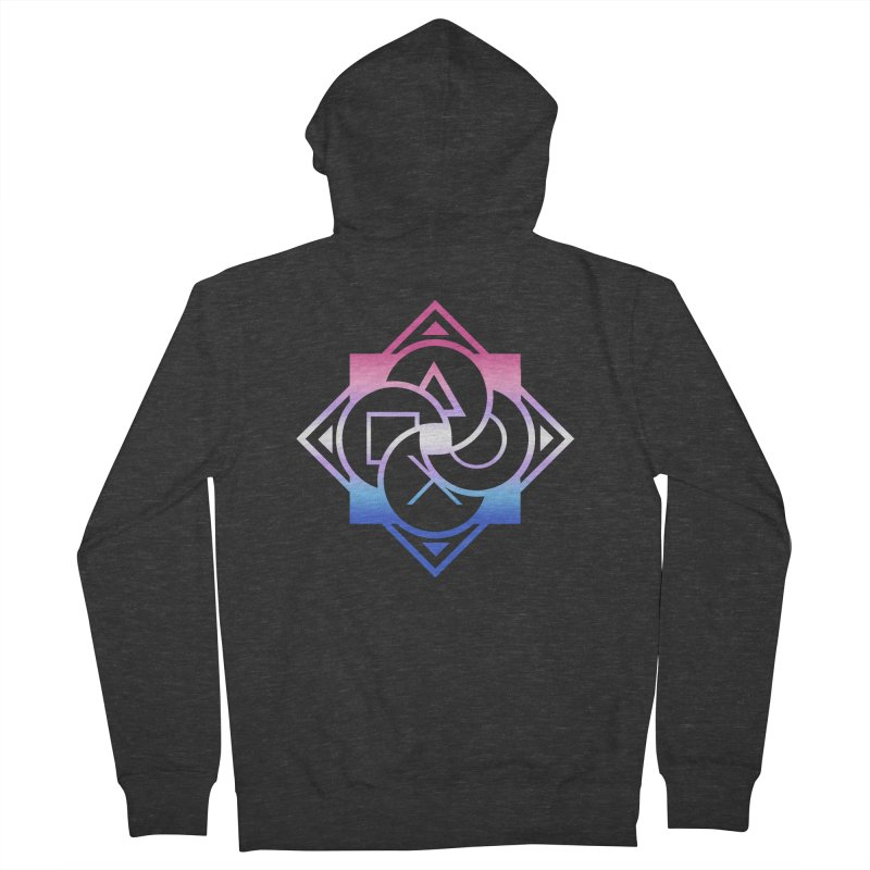 Logo - Bigender Pride Men's French Terry Zip-Up Hoody by Queer Women Game Loot