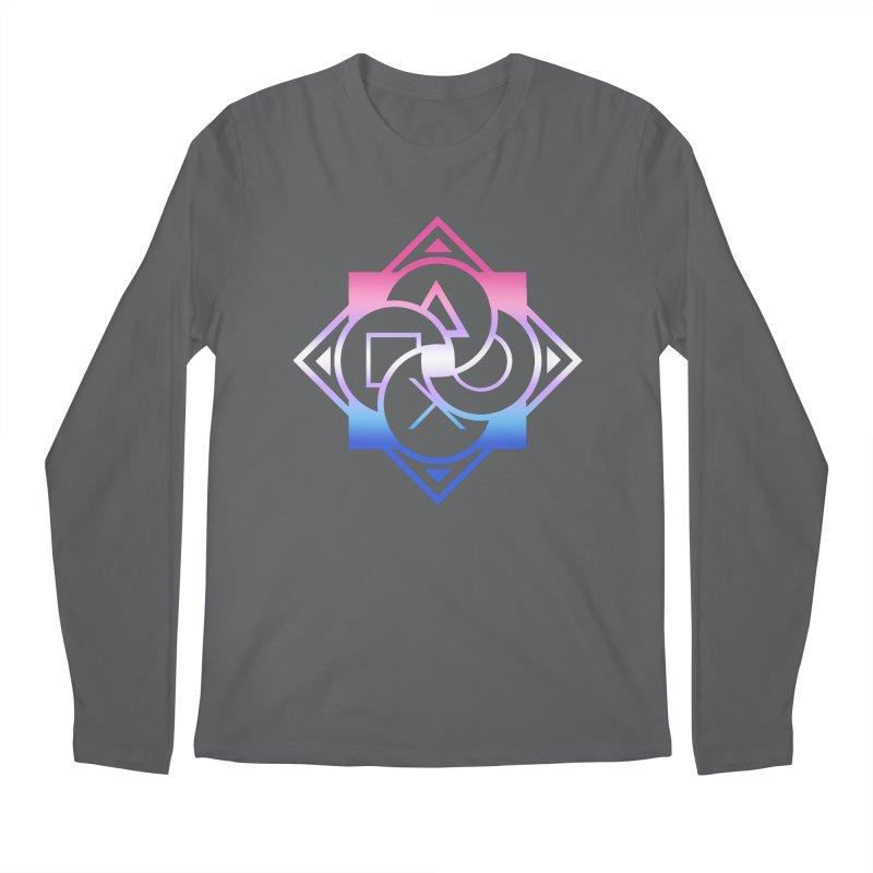 Logo - Bigender Pride Men's Longsleeve T-Shirt by Queer Women Game Loot